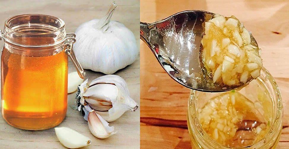 mezcla de ajo con miel