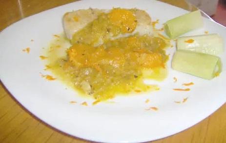 resultado del bacalao con miel y mandarina
