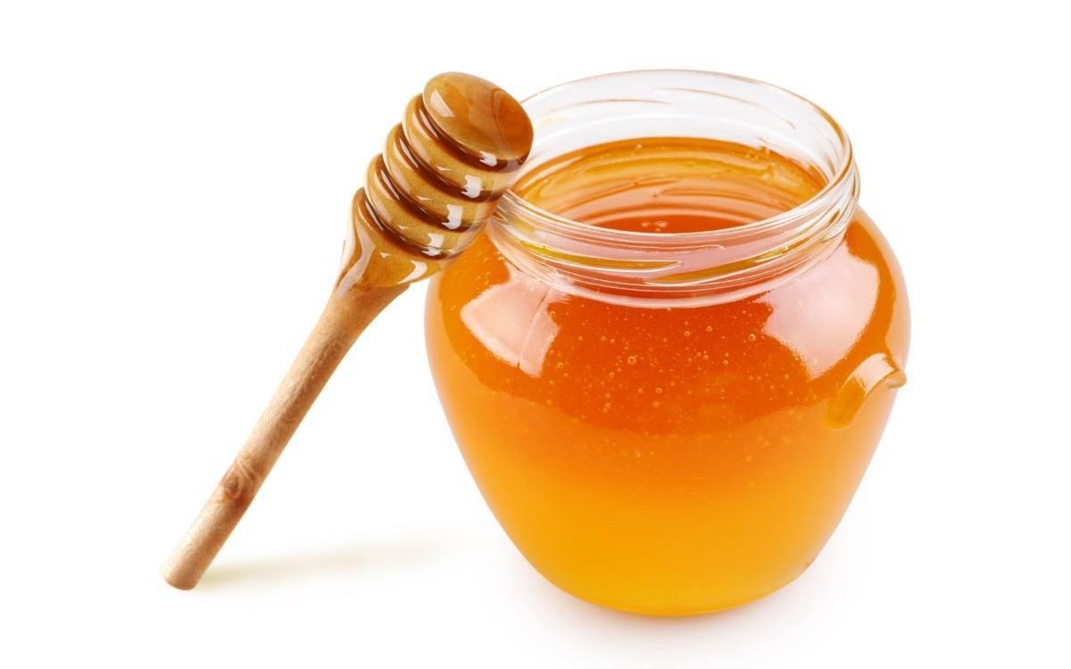 tarro de miel para vertir sobre berenjenas
