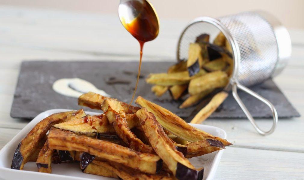 receta de berenjenas fritas con miel de caña