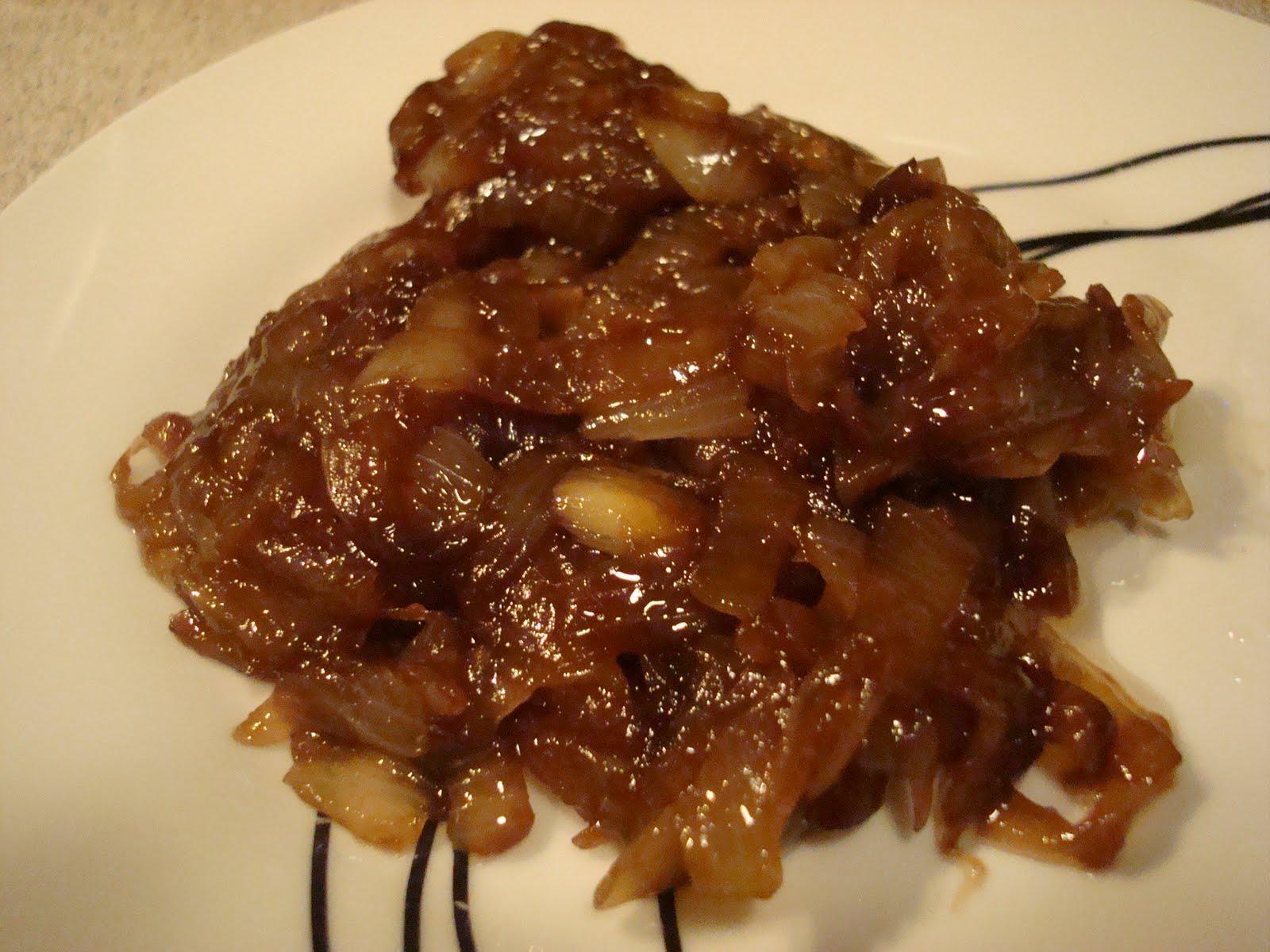 cebollas caramelizadas con miel para guarnición
