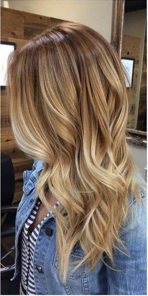 cabello color miel balayage acabado