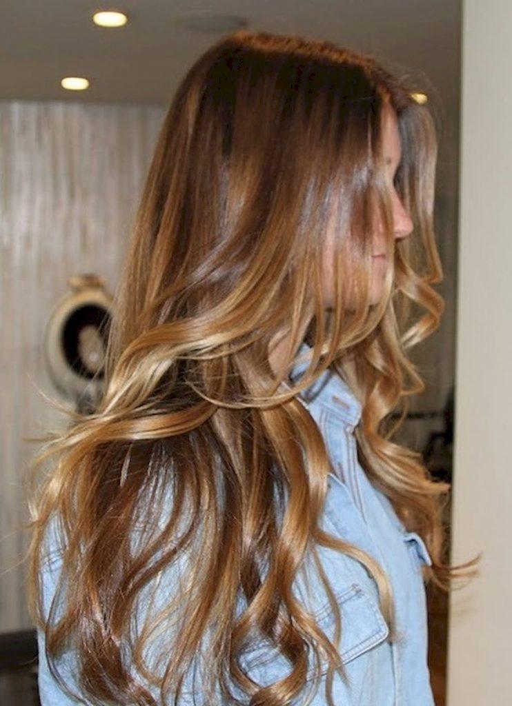 precioso color miel para cabello