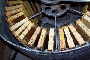 canasta radial de un extractor de miel