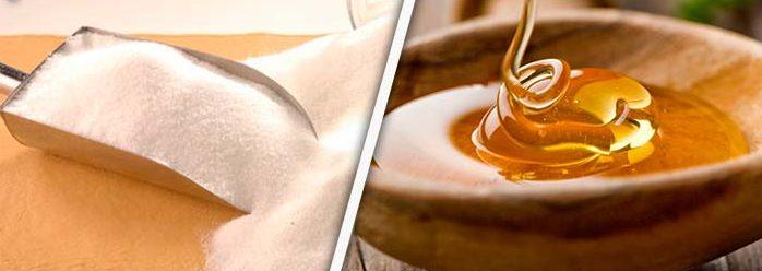 miel y azúcar comparación