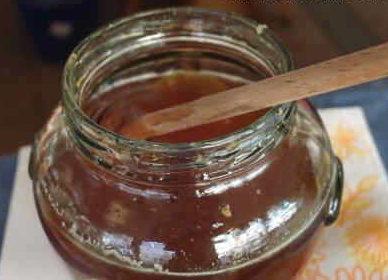 miel de castaño conservado en tarro