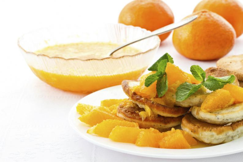 preparación de jarabe a base de naranjas