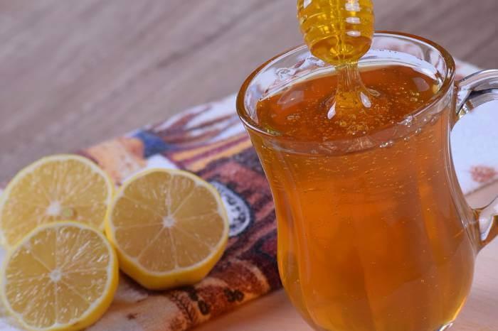 miel con rodajas de naranja
