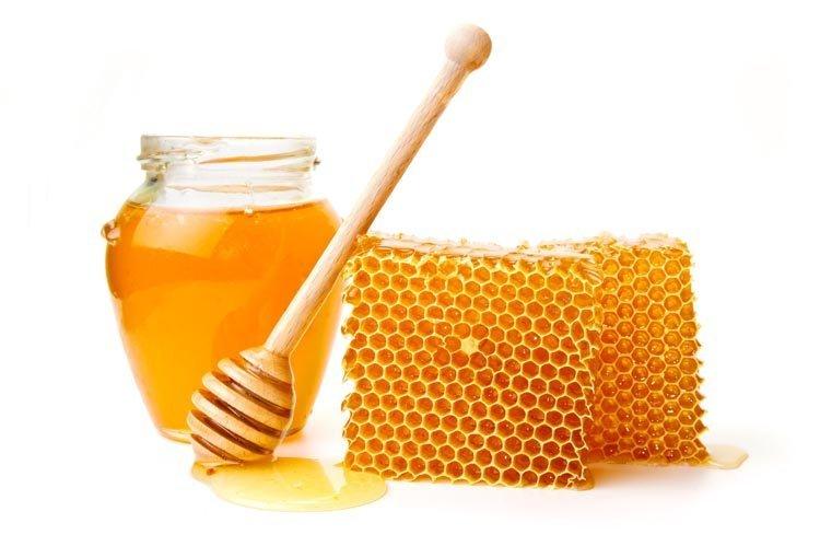 miel ecológica con panal y mielera