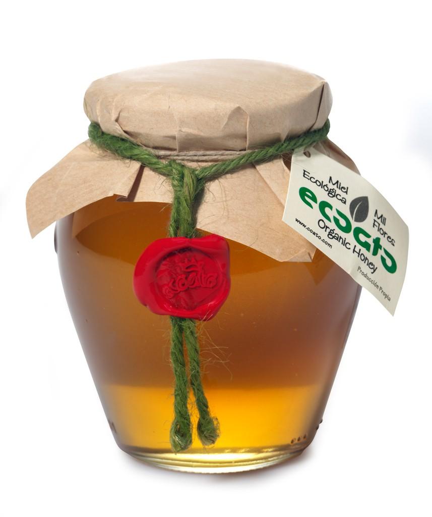 miel ecológica mil flores recipiente