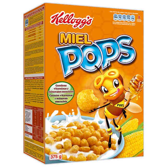 presentación del cereal kellogg's miel pops