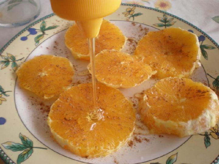 paso 2 receta naranjas con miel