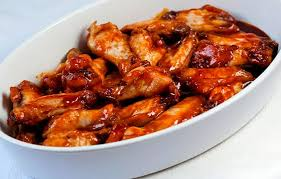 preparación alitas de pollo con salsa de soja y miel