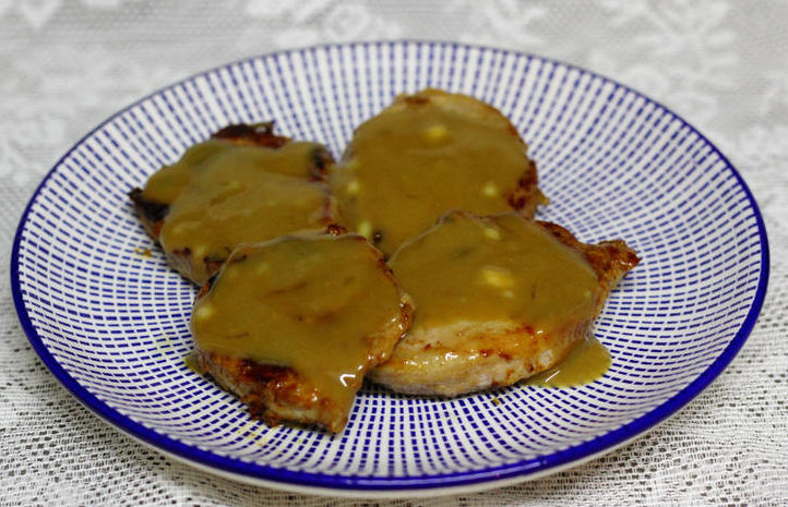 solomillo a la miel plato terminado
