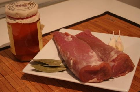 solomillo de cerdo a la miel antes de prepararse