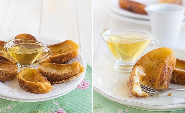torrijas con miel fáciles