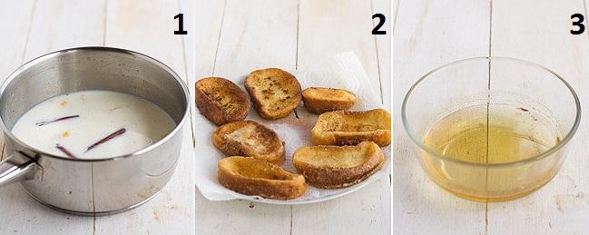 tres pasos sencillos para hacer torrijas con miel