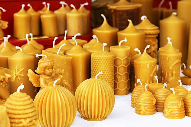 gran variedad de velas de miel