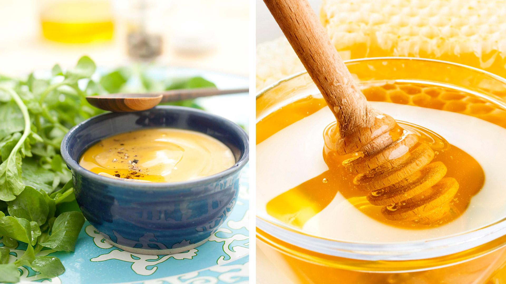 vinagreta de miel mezcla