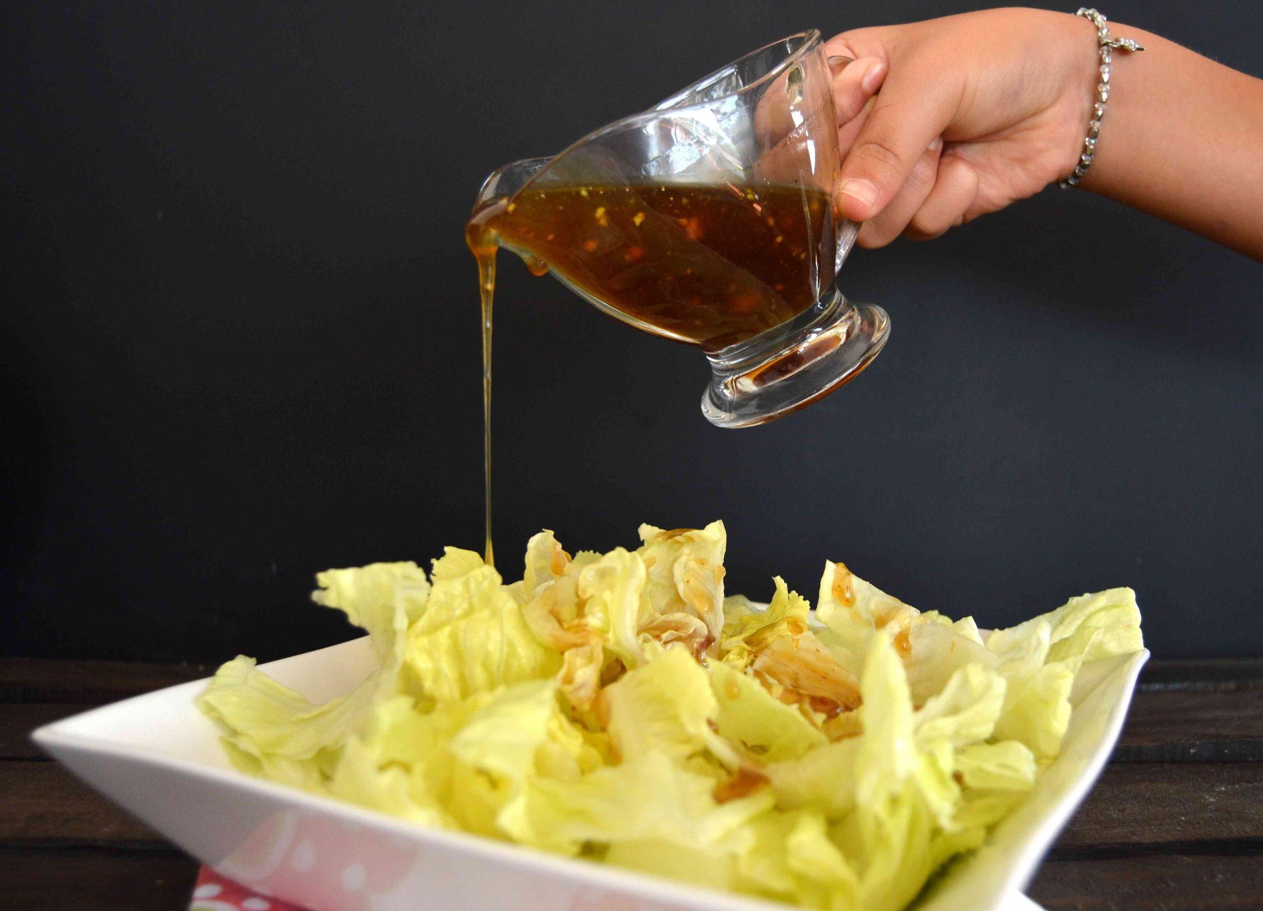 miel y mostaza para vinagreta aderezo comida